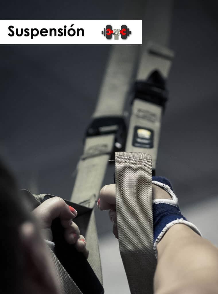 Catalogo de accesorios para trabajo en suspensicon (Aros, trx, estructura, dominadas)